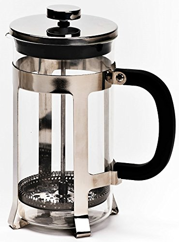 French Press Coffee Maker by Real People 8 Cup 32 oz Coffee Tea Maker with Stainless Steel Plunger High Quality Glass and Stainless Steel Construction Comparable to Bodum Coffee Makers