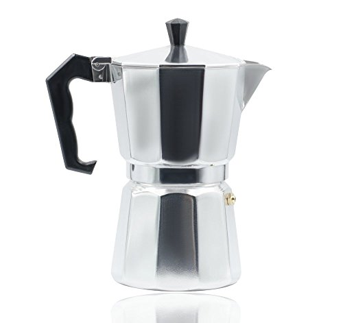 Utensil – High Quality 6-Cup Aluminum Italian Moka Stovetop Espresso Coffee Maker – Free Replacement Gasket Included