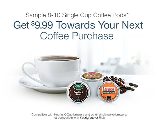 Single Cup Coffee Pods Sample Box, 8 or More Samples ($9.99 credit with purchase)