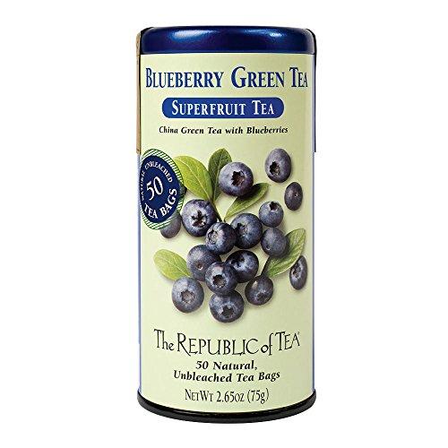 The Republic of Tea, Blueberry Green Tea, 50-Count