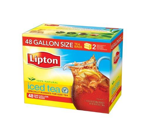 Lipton Black Iced Tea Bags, Gallon Size 48 ct