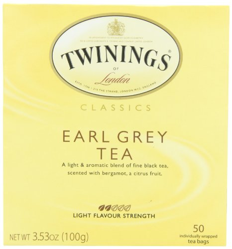 Twinings Earl Grey Tea, Tea Bags, 50-Count Boxes (Pack of 6)