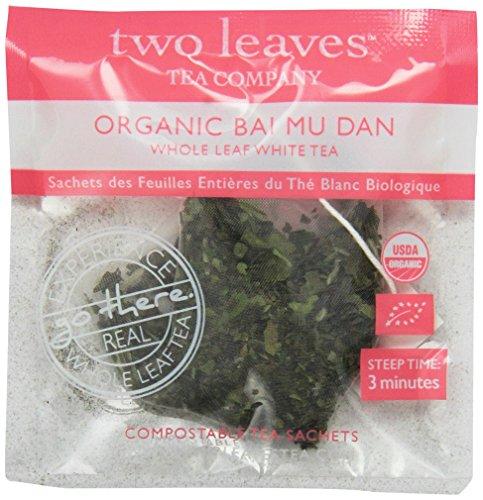 Two Leaves Tea Company Organic Bai Mu Dan White Tea, 100-Count