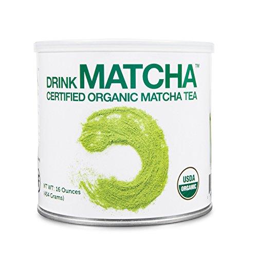 Drink Matcha -1 LB Matcha Green Tea Powder – USDA Organic – 100% Pure Organic Matcha Green tea Powder – Nothing added (16 oz)