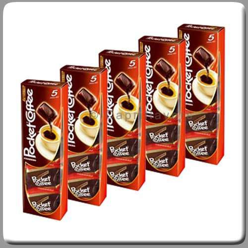 Ferrero Pocket Coffee Made in Italy 5 Packs of 5 Pieces Each