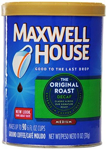 Maxwell House Original Medium Roast Decaf Ground Coffee, 11 Ounce (Pack of 6)