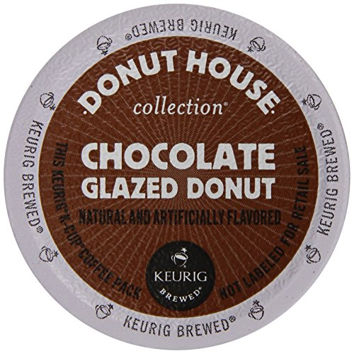 Donut House Collection Coffee, Chocolate Glazed Donut, K-Cup Portion Pack for Keurig K-Cup Brewers, 12 Count