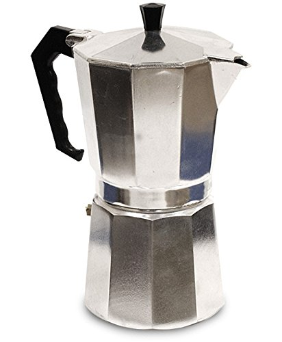 Primula Today Mario Espresso Maker – Aluminum – For Bold, Full Body Espresso – Easy to Use – Makes 6 Cups