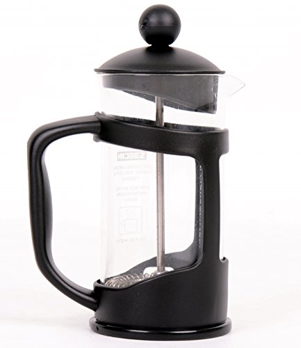 FREE Self Stirring Metal Mug! – French Press Ground Coffee Espresso & Tea Maker – Original Kitchen Aid Office Bodum 3 Cups – Best Combined With Grinder – Heat Resistant Glass – Lifetime Guarantee!