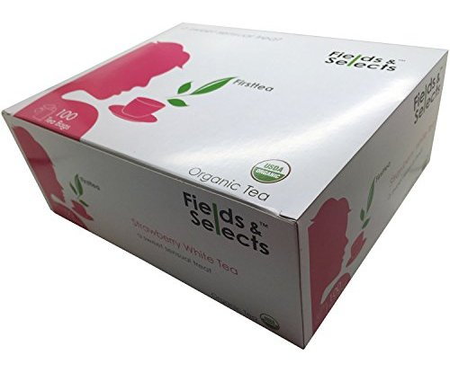 Fields Amp Selects Organic Strawberry White Tea Bags 100
