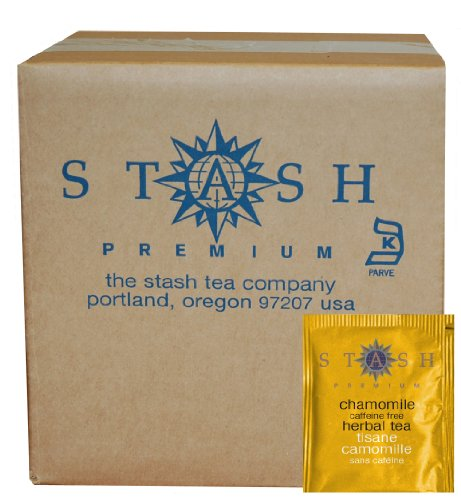 Stash Tea Chamomile Herbal Tea, 100 Count Box of Tea Bags in Foil
