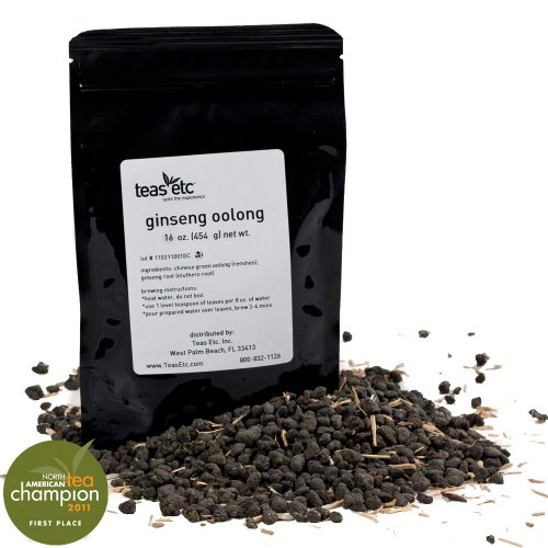 Teas Etc Ginseng Loose Leaf Oolong 16 oz.