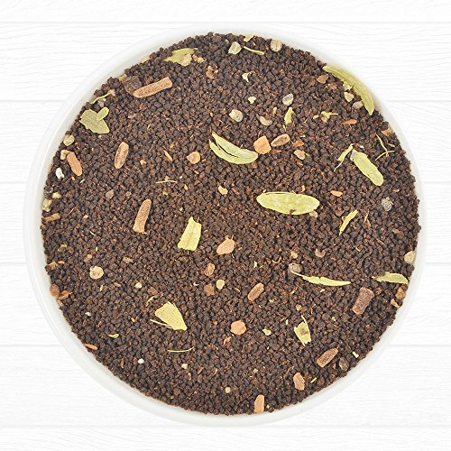 Earl Grey Masala Chai Black Tea, Assam CTC Blended with Fresh Indian Spices Like Cardamom, Cinnamon, Clove & Black Pepper, Loose Tea (3.53 Oz / 100g)