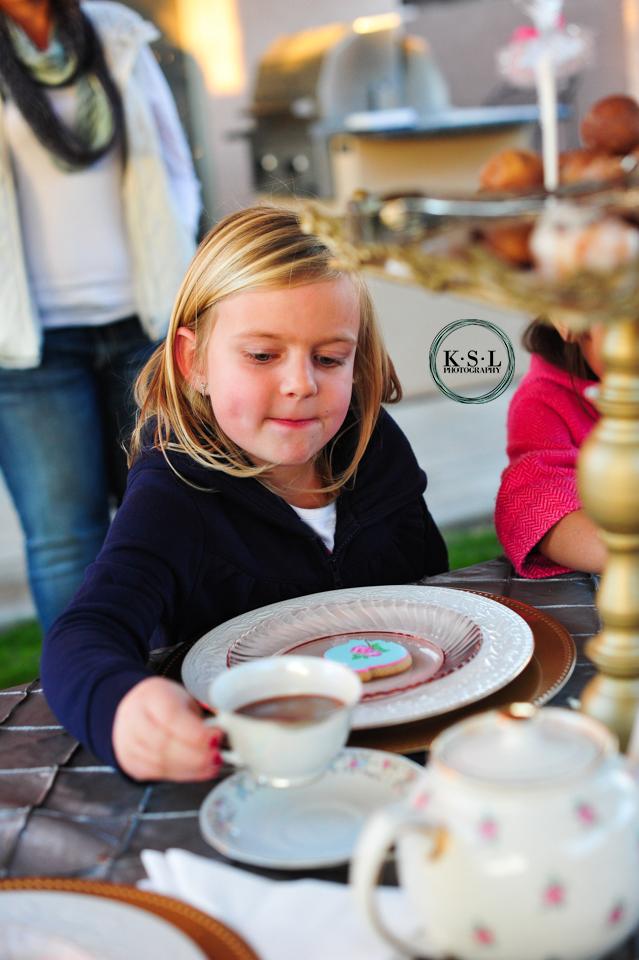 little girls' tea party
