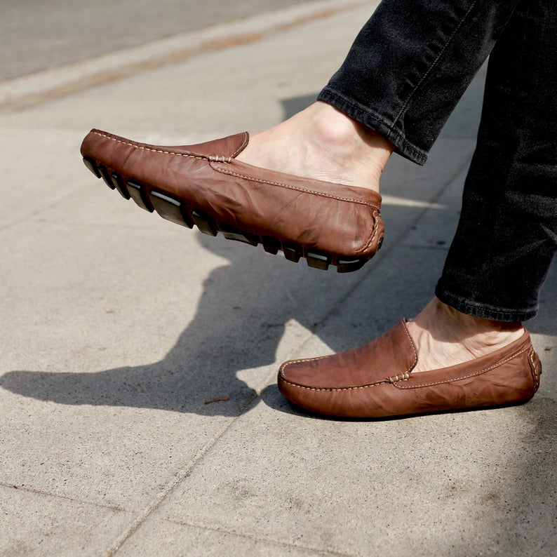 Father's Day Handmade Comfortable Leather Loafers