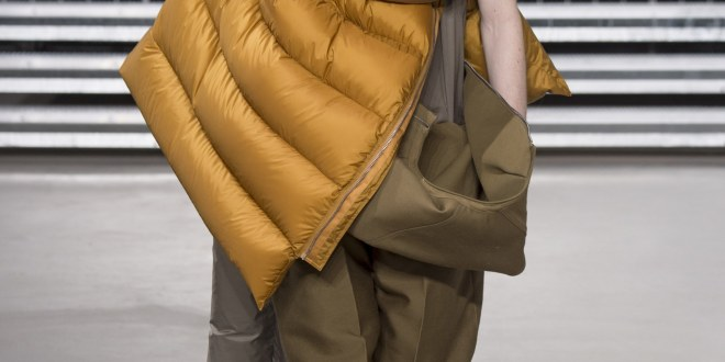 Rick Owens-Menswear- Fall 2017- Sleeping Bags are the New Black.