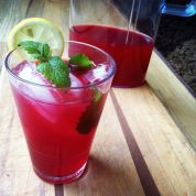 earl grey and hibiscus lemonade