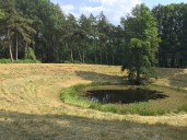 This crater gives a better sense due to less water fill.