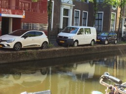Not a whole lot of stupid-proofing here. Learn to parallel park or end up in the canal.