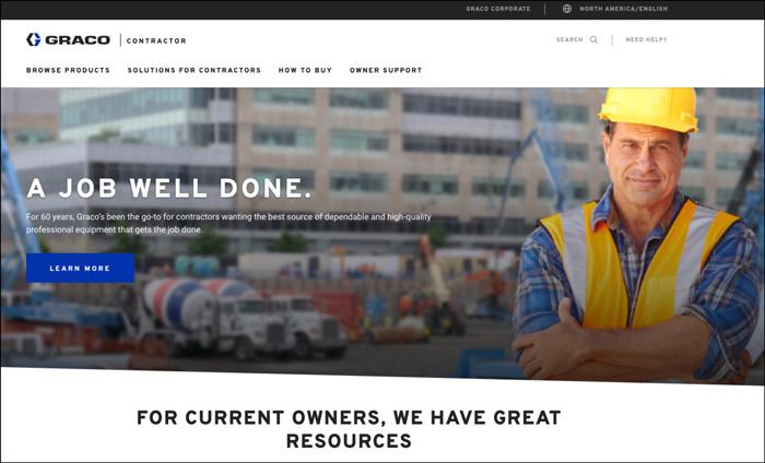 Graco website content | TEAGARDEN.tech