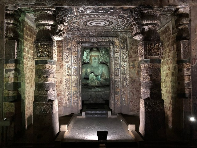 Postcard from Raymond: Entering a Sanctuary of Sanctity (Cave 2, Ajanta)