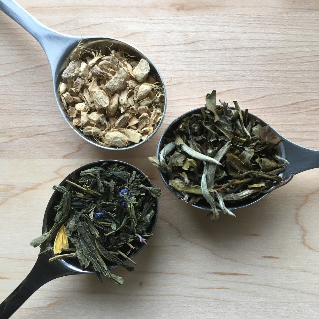 The Tea Spot White Green Herbal Tea Three Spoons
