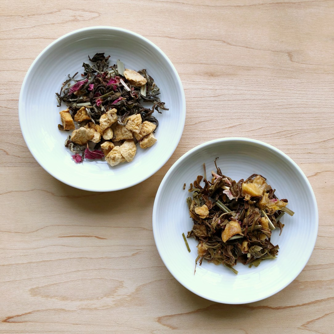 Teabox Peach Passion Tea Oolong Tea Dishes