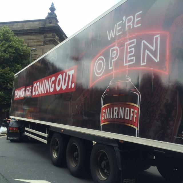 Smirnoff lorry for Pride