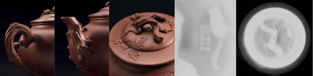 Detail view from front and above. X-ray scan of lid with Artist seal ('Jingzhou')