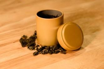 Airtight tins protect tea for long term storage