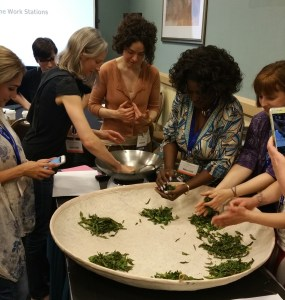 Photo: Students get hands-on rolling and making their own tea. Courtesy: Tea Processing Class, World Tea Expo