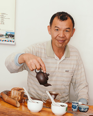 Tea master Ren Zhi Deng