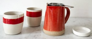 Little Red Cup Pitcher Set