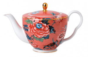 Paeonia Blush Coral Tea Pot