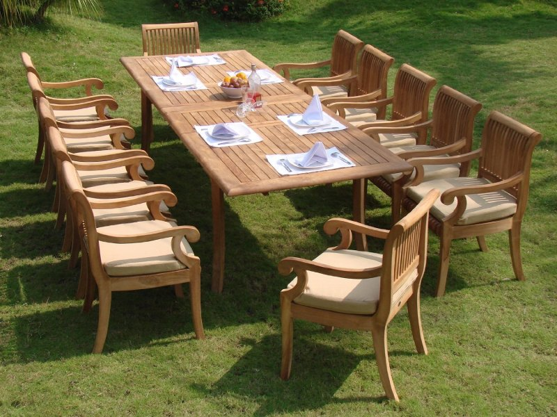 Compare and Choose  Reviewing the Best Teak Outdoor Dining Sets     best teak outdoor dining set reviews
