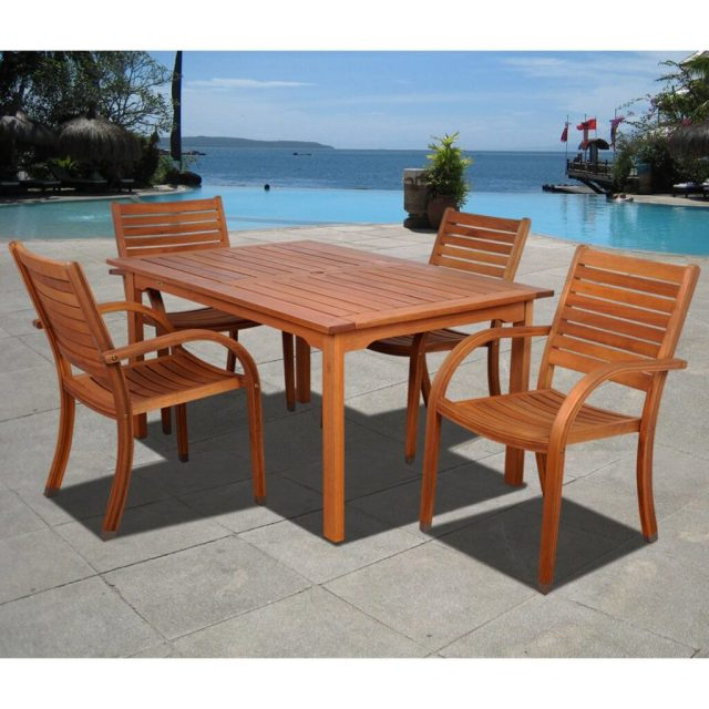 best eucalyptus hardwood furniture & patio sets in 2018 - teak patio