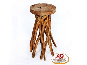 Round Bar Stool Small Branch Leg