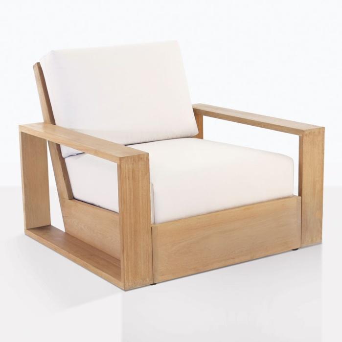 kuba teak outdoor club chair