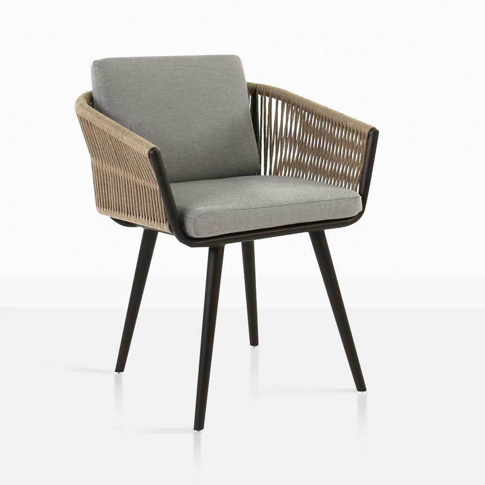 tessa rope outdoor dining chair