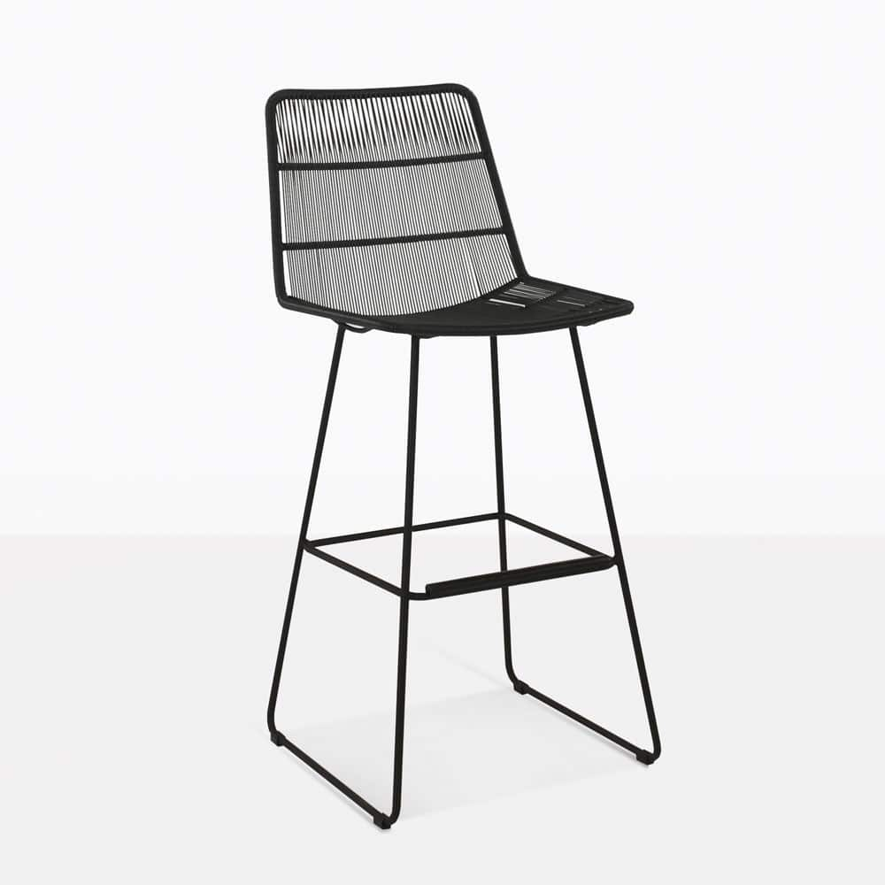 Nairobi Bar Stool BlackBar Stools Teak Warehouse