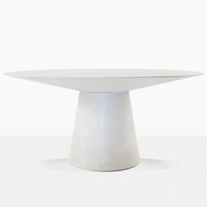 holly outdoor concrete dining table grey