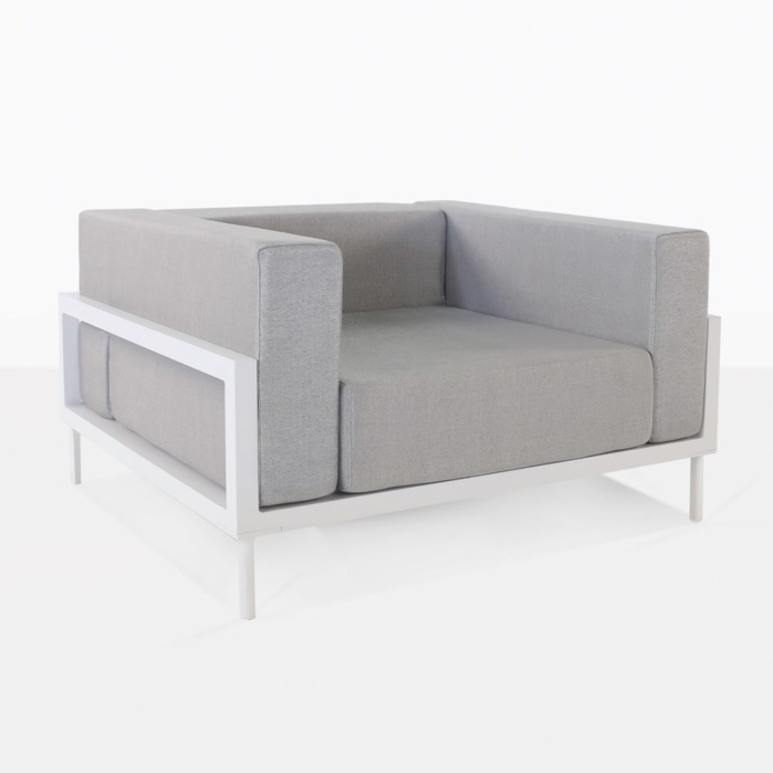 kobii outdoor aluminum club chair white
