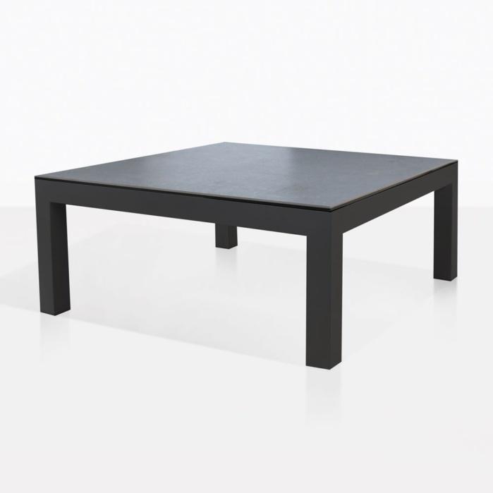 granada aluminum outdoor coffee table charcoal