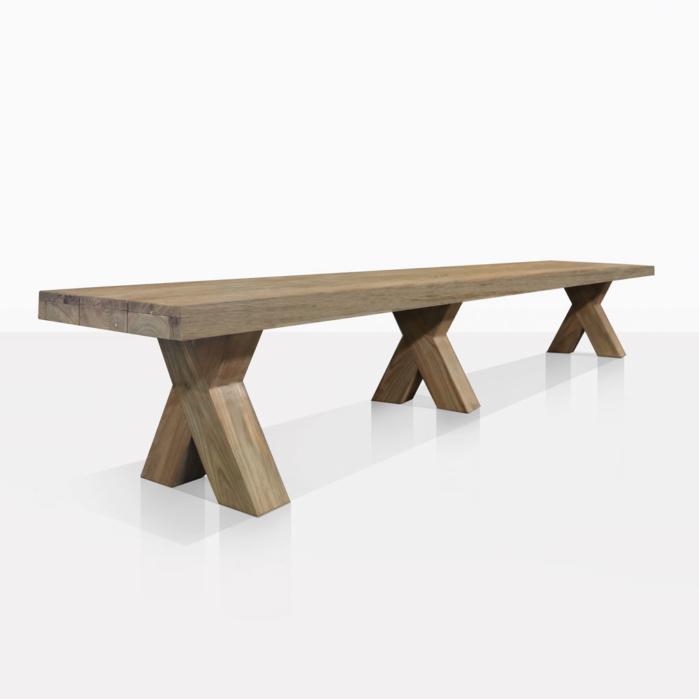 boxx reclaimed teak outdoor benches