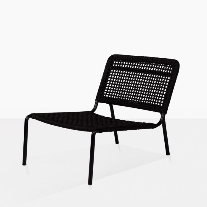 misa outdoor relaxing chair black
