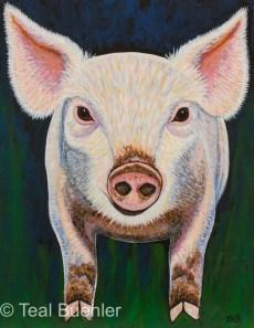 Piglet - 11x14 Acrylic on Canvas Board