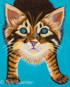 Tabby Kitten - 8 x 10 Masonite