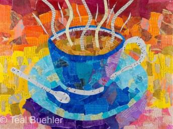 Cuppa - 12x16 on Canvas Board