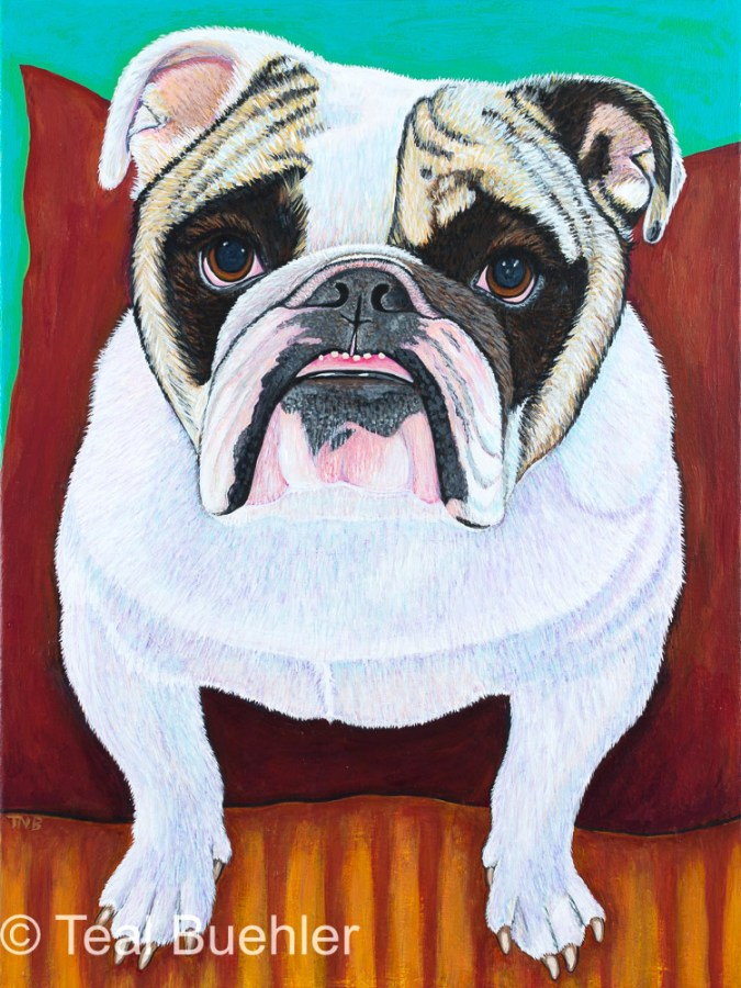 SOLD - Bulldog - 18x24 Acrylic on Canvas Click to shop Bulldog products
