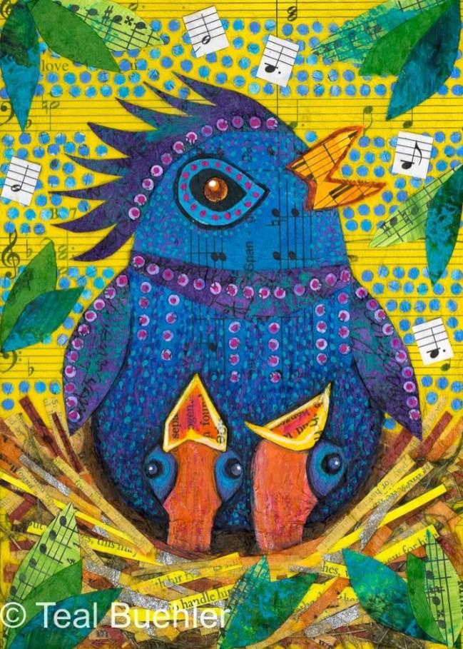 Mama Bird – 5x7 collage